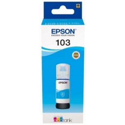 Epson cartus original C13T00S24A, 103, cyan, 65ml, Epson EcoTank L3151, L3150, L3111, L3110