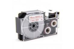 Banda compatibila Casio XR-18WER 18mm x 8m text rosu / fundal alb