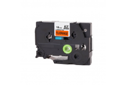Banda compatibila Brother TZ-B41 / TZe-B41, semnal 18mm x 8m, text negru / fundal portocaliu