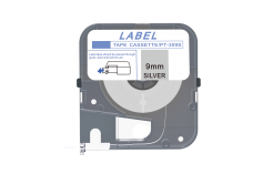 Max LM-309S, 9mm x 8m, stříbrná kompatibilní páska