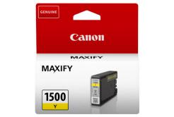 Canon cartus original PGI-1500 Y, yellow, 300 pagini, 4.5ml, 9231B001, Canon MAXIFY MB2050,MB2150,MB2155,MB2350,MB2750,MB2755