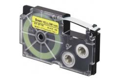Casio XR-9FYW , 9mm x 8m, černý tisk / signální žlutý podklad, kompatibilní páska
