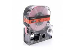Epson LK-SC6RW, 6mm x 9m, text negru / fundal rosu, banda compatibila