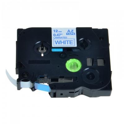 Banda compatibila Brother TZ-233 / TZe-233, 12mm x 8m, albastru imprimare / alb fundal