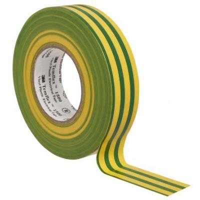3M Temflex 1500 benzi electroizolante, 15 mm x 10 m, verde -  galben