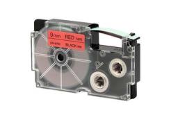 Casio XR-9RD1, 9mm x 8m, text negru / fundal rosu, banda originala