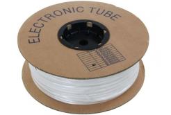 Marcaj tub termocontractabil din PVC rotund cu grosimea BA-25, 2,5 mm, 200 m, alb
