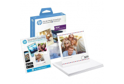 HP W2G60A Social Media Snapshots, alb lucios hartie foto, 265 g/m2, 10x13cm, 25 buc