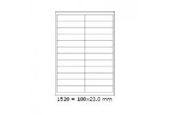 Etichete autoadezive 100 x 23 mm, 24 de etichete, A4, 100 coli