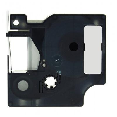Banda compatibila Dymo 1805436, 19mm x 5, 5m text negru / fundal alb, vinil