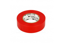 3M Temflex 1300 benzi electroizolante, 15 mm x 10 m, rosu