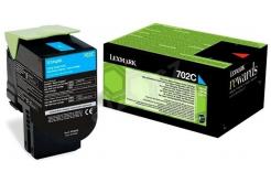 Lexmark 70C20C0 azuriu (cyan) toner original