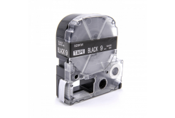 Epson LC-SD9KW, 9mm x 8m, text alb / fundal negru, banda compatibila