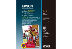 Epson S400039 Value Glossy Photo Paper, lucios, alb, hartie foto, 10x15cm, 183 g/m2, 100 buc