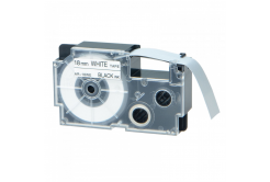Banda compatibila Casio XR-18WE1, 18mm x 8m text negru / fundal alb