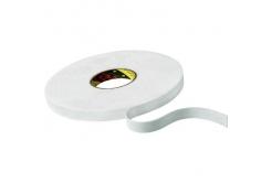 3M 9508W bandă adezivă dublă faţă-verso din spumă , alb, 19 mm x 3 m