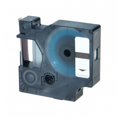 Banda compatibila Dymo 40916, S0720710, 9mm x 7m text negru / fundal albastru