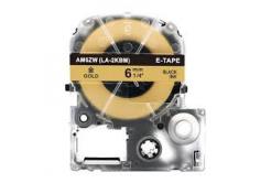 Epson LC-SM6ZW, 6mm x 8m, text negru / fundal auriu, banda compatibila