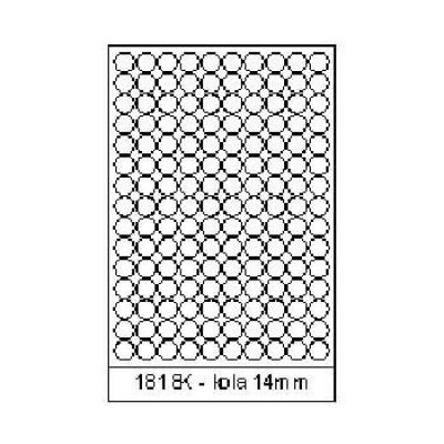 Etichete autoadezive 18 x 18 mm, 150 de etichete, A4, 100 coli