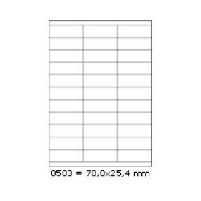 Etichete autoadezive 70 x 25,4 mm, 27 de etichete, A4, 100 coli