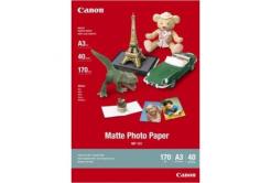 Canon MP-101 mate Photo Paper, hartie foto, mat, alb, A3, 170 g/m2, 40 buc, imprimarea cu jet de cerneală