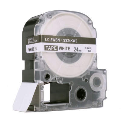 Epson LC-SS24KW, 24mm x 8m, text negru / fundal alb, banda compatibila