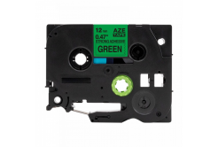 Banda compatibila Brother TZ-S731 / TZe-S731 12mm x8m puternic adeziva, text negru / fundal verde