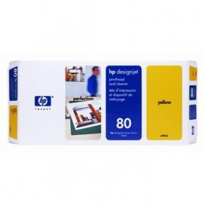 HP 80 C4823A galben (yellow) cap de imprimare original