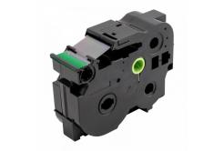 Banda compatibila Brother TZ-S751 / TZe-S751, 24mm x 8m, extr.adh. text negru / fundal verde