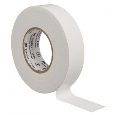 3M Temflex 1500 benzi electroizolante, 19 mm x 20 m, alb