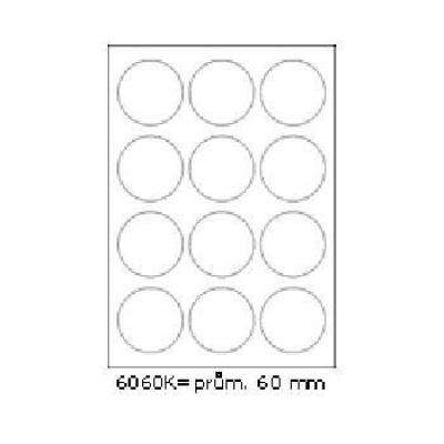 Etichete autoadezive 60 x 60 mm, 12 de etichete, A4, 100 coli