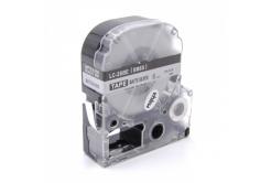 Epson LC-SM6X, 6mm x 8m, text negru / mat fundal argintiu, banda compatibila