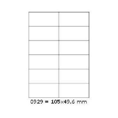 Etichete autoadezive 105 x 49,6 mm, 12 de etichete, A4, 100 coli