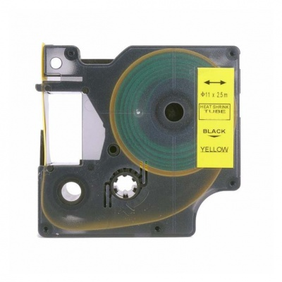 Dymo 18058, S0718340, 19mm x 1, 5m text negru / fundal galben, tub termocontractibil, banda compatibila