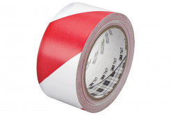 3M 767 PVC bandă alb-rosu, 50 mm x 33 m
