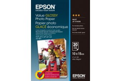 Epson S400037 Value Glossy Photo Paper, alb, lucios, hartie foto 10x15cm, 183 g/m2, 20 buc