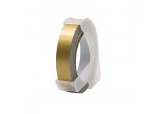 Dymo Omega, 9mm x 3m, text alb / auriu negru, banda compatibila