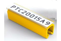 Partex PTC40015A4, galben, 100 buc., (5-6,2mm), PTC husa acoperitoare pentru etichete