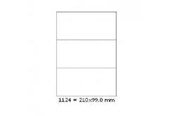 Etichete autoadezive 210 x 99 mm, 3 de etichete, A4, 100 coli