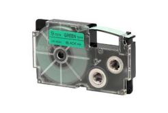 Casio XR-9GN1, 9mm x 8m, text negru / fundal verde, banda originala