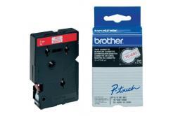 Brother TC-292, 9mm x 7,7m, text rosu / fundal alb, banda original