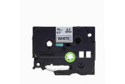 Brother TZe-V241, 18mm x 5,5m, text negru / fundal alb, vinyl, banda compatibila