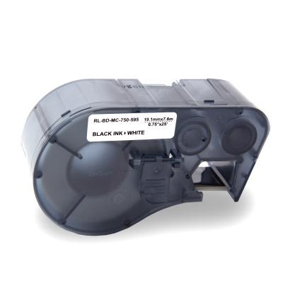 Brady MC-750-595-WT-BK / 143372, Labelmaker Tape, 19.05 mm x 7.62 m, text negru / fundal alb, banda compatibila