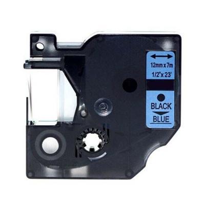 Banda compatibila Dymo 45016, S0720560, 12mm x 7m text negru / fundal albastru