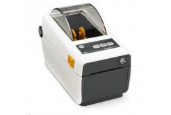 Zebra ZD410 ZD41H22-D0EE00EZ imprimante de etichetat, 8 dots/mm (203 dpi), MS, RTC, EPLII, ZPLII, USB, BT (BLE), Ethernet, alb