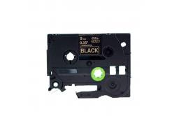 Banda compatibila Brother TZ-324 / TZe-324, 9mm x 8m, text auriu / fundal negru