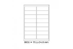 Etichete autoadezive 99,1 x 34 mm, 16 de etichete, A4, 100 coli