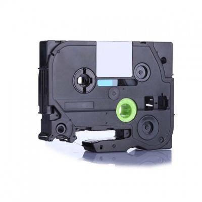 Banda compatibila Brother TZ-FX212 / TZe-FX212, 6mm x 8m, flexi, text negru / fundal alb