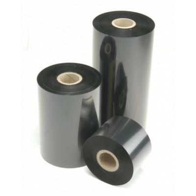 "TTR ribon, ceara (wax), 110mm x 74m, 1/2"", OUT, negru"