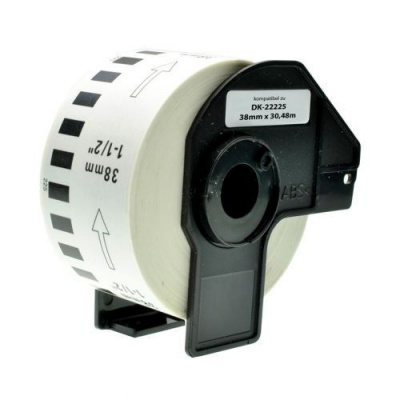 Brother DK-22225, 38mm x 30,48m, rolă etichete compatibil